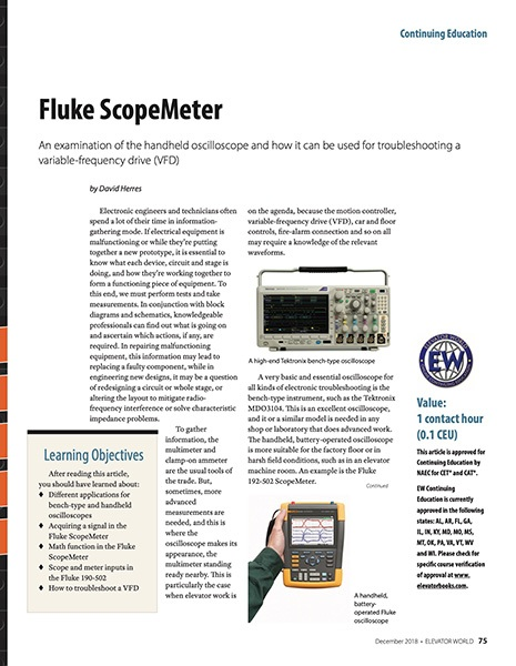 2018 December Fluke ScopeMeter