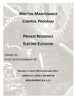 WMCPA17.1-2013 ELECTRIC PRIVATE RESIDENCE ELEVATORS